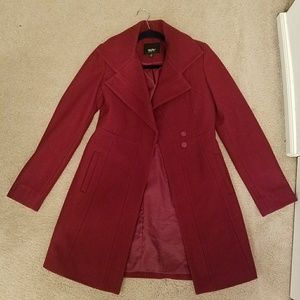 Long Maroon wool coat